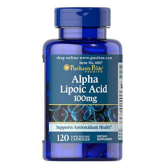 Альфа-липоева  кислота, Puritan's Pride Alpha Lipoic Acid 100 mg 120 капсул