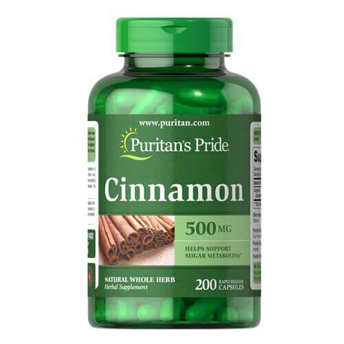 Экстракта корицы, Puritan's Pride Cinnamon 500 mg 200 капсул