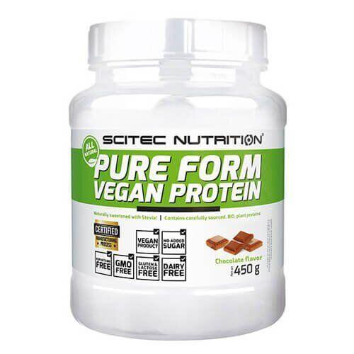 Протеин, Scitec Nutrition Pure Form Vegan Protein 450 грамм