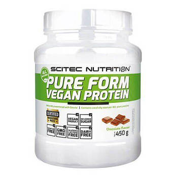 Протеин, Scitec Nutrition Pure Form Vegan Protein 450 грамм