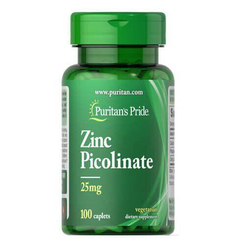 Puritan's Pride Zinc Picolinate 25 mg 100 таб