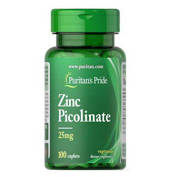 Puritan's Pride Zinc Picolinate 25 mg 100 таб
