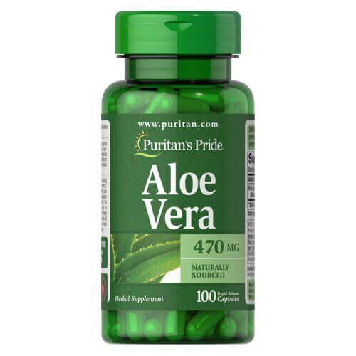 Puritan's Pride Aloe Vera 470 mg 100 капсул