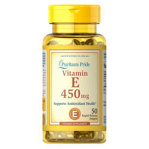 Puritan's Pride Vitamin E 450 mg 50 жидких капсул