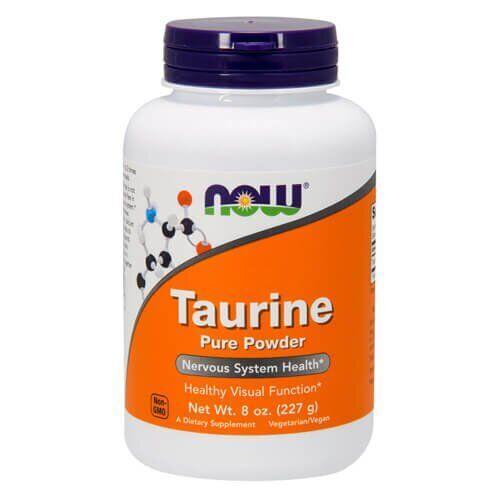 Таурин, NOW Taurine Pure Powder 227 грамм
