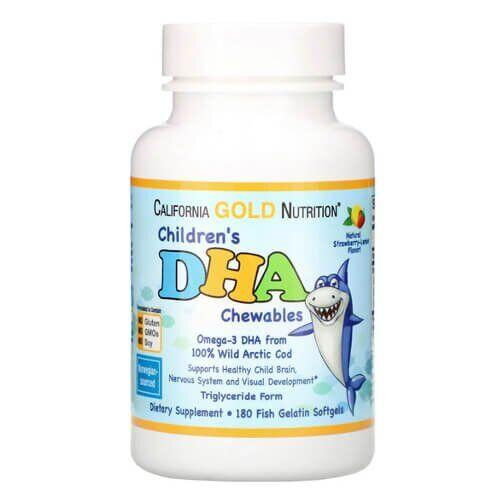 California Gold Nutrition Children's DHA 180 капсул
