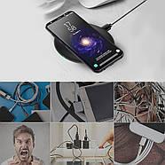Беспроводная зарядка JETIX N5 Fast Charge Black + Qi-ресивер в подарок, фото 5