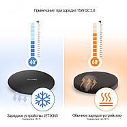 Беспроводная зарядка JETIX N5 Fast Charge Black + Qi-ресивер в подарок, фото 6