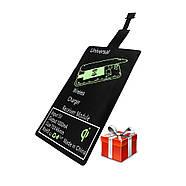Беспроводная зарядка JETIX N5 Fast Charge Black + Qi-ресивер в подарок, фото 7