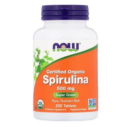 NOW Spirulina 500 mg 200 таб