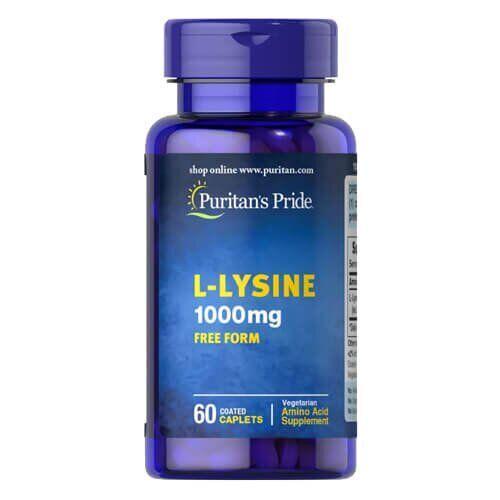 Лизин, Puritan's Pride L-Lysine 1000 mg 60 таб