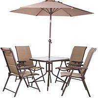 Комплект садовой мебели Playa коричневый/бежевый