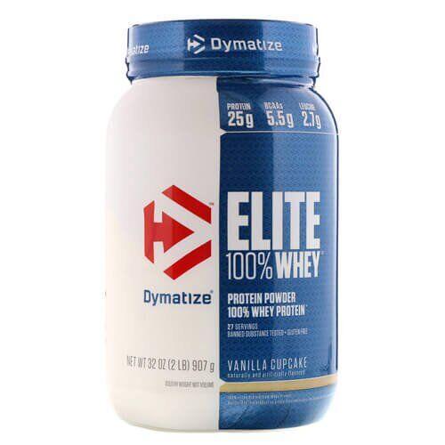 Протеин, Dymatize Elite Whey Protein 907 грамм, Клубника