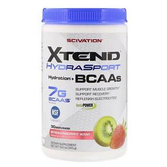 БЦАА с електролитами, BCAA Scivation Xtend HydraSport 345 грамм, Клубника-Киви