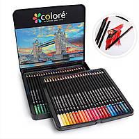 Набор цветных карандашей 48 цветов в металлической коробке. хит продаж