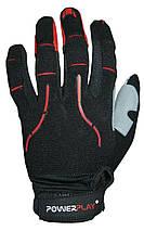 Робочі рукавички PowerPlay 6662 В Чорно-Червоні L, фото 2