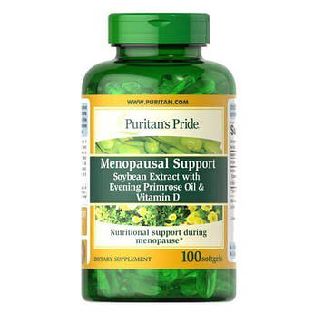 Puritan's Pride Menopausal Support 100 жидких капсул