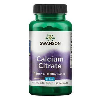 Swanson Calcium Citrate 60 капсул