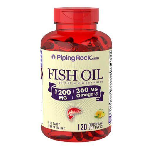 Omega-3 Fish Oil Lemon Flavor 1200 mg 120 капсул
