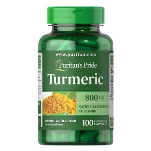 Puritan's Pride Turmeric 800 mg 100 капсул