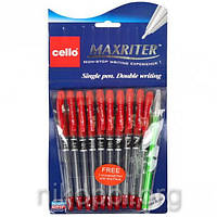 Ручка масляна Cello Maxriter, червона