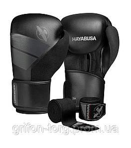 Боксерські рукавиці Hayabusa S4 - Чорні 12oz (Original) Шкіра