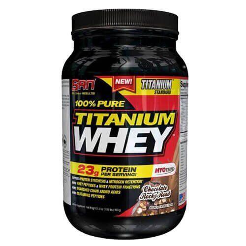 Протеин, SAN 100% Pure Titanium Whey 907 грамм, Ванильный торт