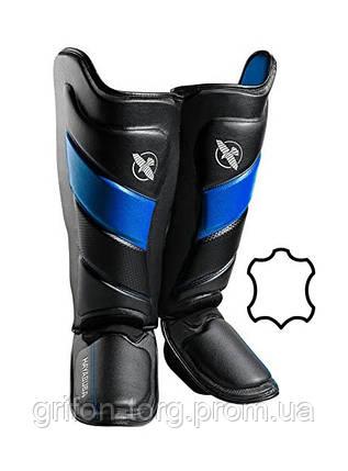 Захист гомілки і стопи Hayabusa T3 - Чорно-сині XL (Original), фото 2