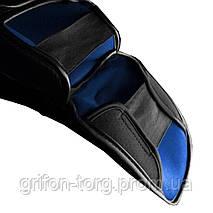 Захист гомілки і стопи Hayabusa T3 - Чорно-сині XL (Original), фото 3