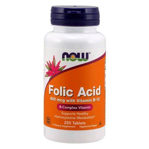NOW Folic Acid 800 мкг 250 таб
