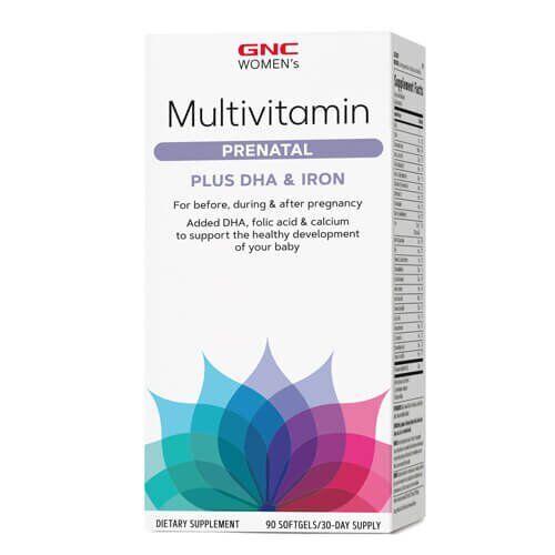 GNC Women's Multivitamin Prenatal Formula 90 жидких капсул