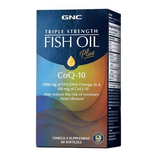 GNC Triple Strength Fish OilPlus CoQ-10 60 жидких капсул