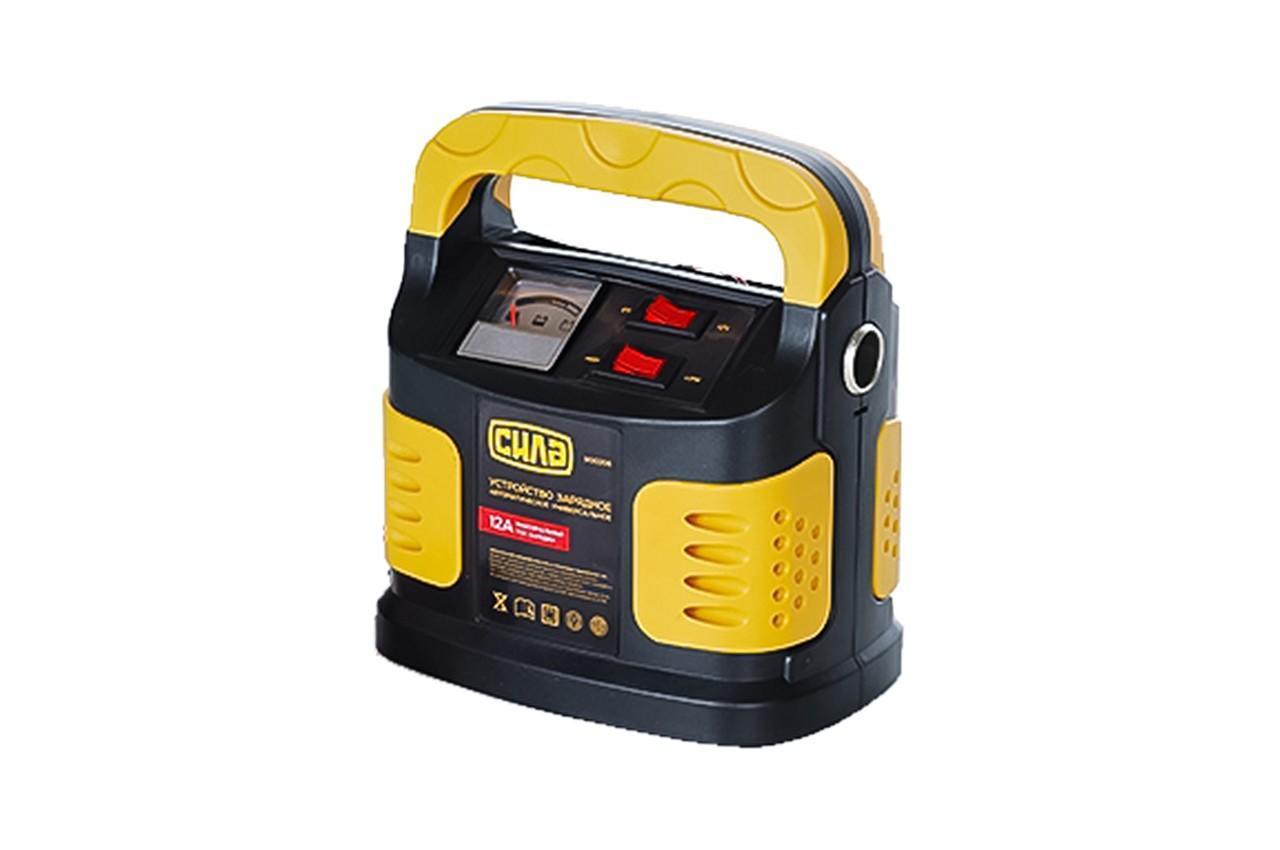 Зарядное устройство для авто 12А, 6-12В, до 250Ah (подходит на свинцово-кислотные АКБ) (стрелочный индикатор)