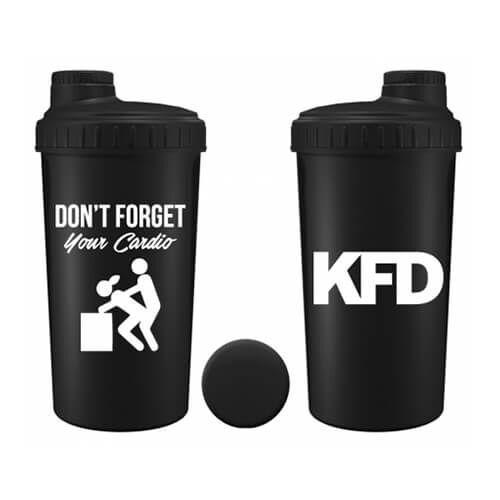KFD Shaker Don`T Forget Your Cardio 600 мл, Черный, Черный