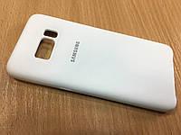 Оригинальный силиконовый чехол бампер накладка(Soft Silicon) для Samsung S8 G950 противоударный белый