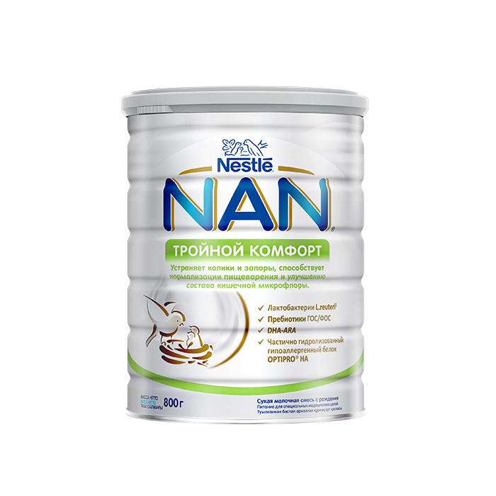 Молочна суміш NAN Потрійний комфорт, 0+, 800г