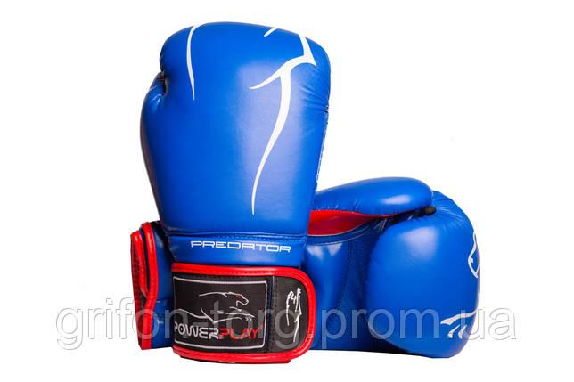 Боксерські рукавиці PowerPlay 3018 Сині 8 унцій, фото 2