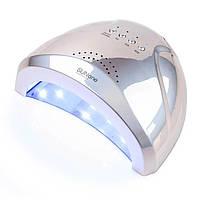 LED+UV Лампа SUN One 48W Mirror (зеркальная) - цвет Серебро, фото 1