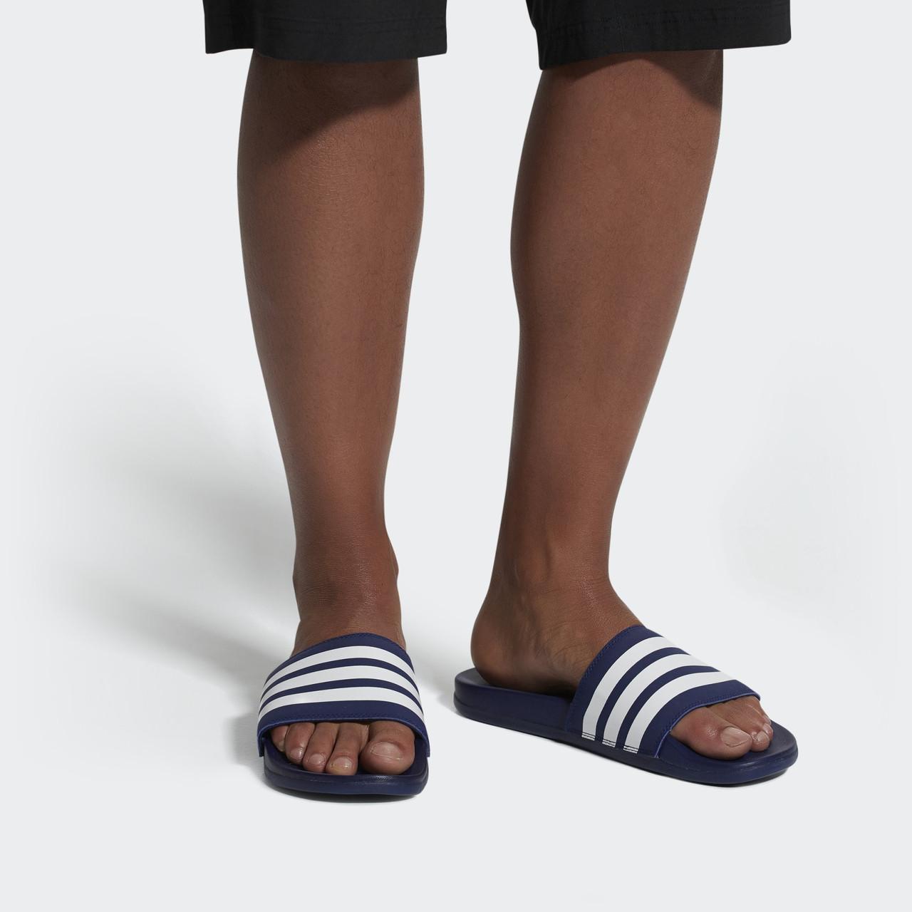 Мужские Шлепанцы Adidas adilette Cloudfoam Plus Stripes B42114 46 размер