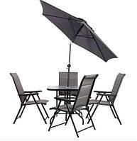 Комплект садовой мебели Playa черный/темно-серый
