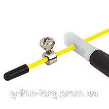 Скакалка швидкісна PowerPlay 4202 Жовта, фото 2