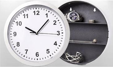 Настенные часы-сейф Safe clock Серебристые