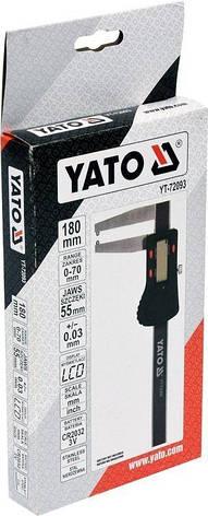Штангенциркуль для гальмівних дисків YATO YT-72093, фото 2