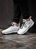 Чоловічі кросівки Nike Air Max 720 в стилі найк аір макс білі (Репліка ААА+), фото 3