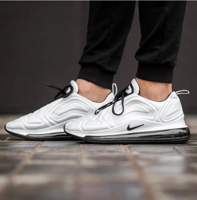 Мужские кроссовки Nike Air Max 720 в стиле найк аир макс белые  (Реплика ААА+)