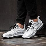 Чоловічі кросівки Nike Air Max 720 в стилі найк аір макс білі (Репліка ААА+), фото 4