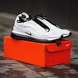 Чоловічі кросівки Nike Air Max 720 в стилі найк аір макс білі (Репліка ААА+), фото 5