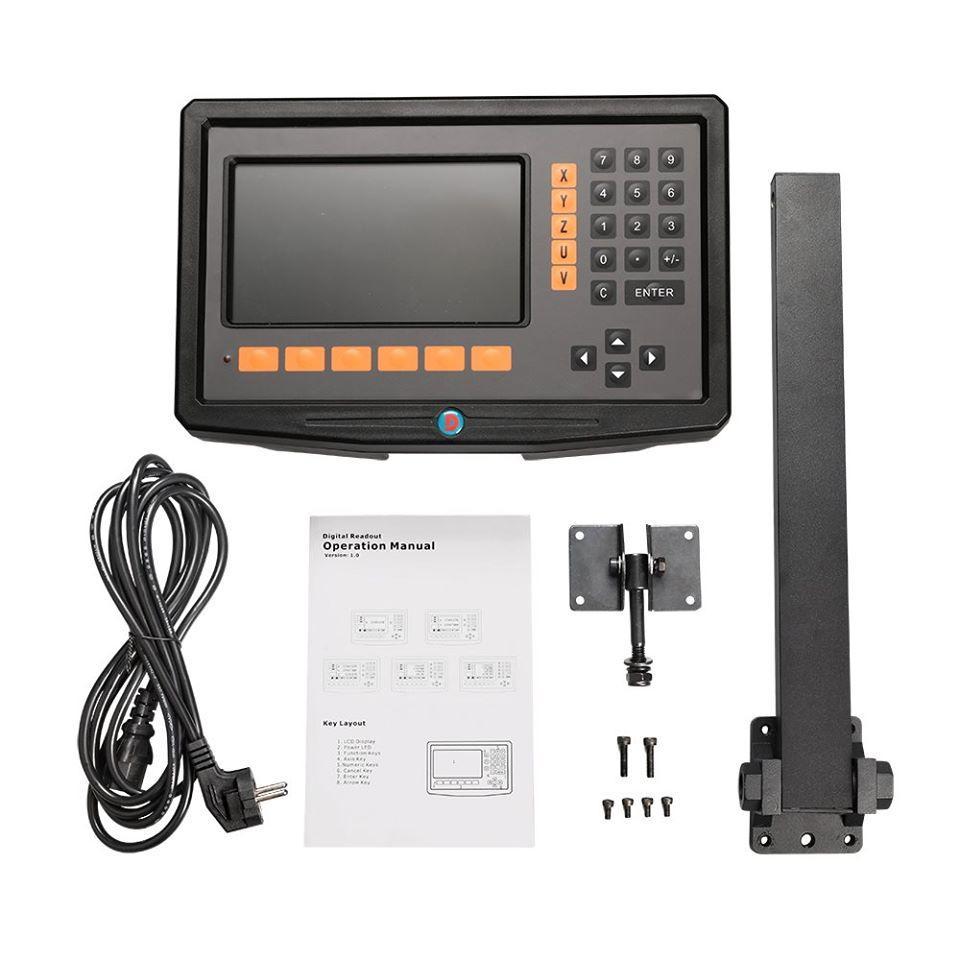 Комплект УЦИ DS50P-2V (LCD) и линеек DELOS 5 мкм для токарно-винторезного станка ТВ-320