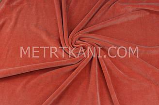 Велюр х/б  темно рыжего цвета, ширина 180 см № В-050