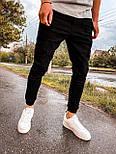 Джинси - чоловічі чорні джинси джогеры, фото 2